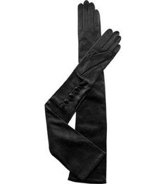 Long Silk Lined Leather Gloves - Opera Length-Black or White-On Sale and Black Leather Gloves, Leather Accessories, Leather And Lace, Mitten Gloves, Mittens, Cold Weather Gloves, Wedding Gloves, Lace Outfit, Dress Gloves