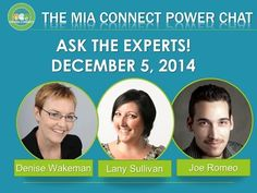 Ask The Experts - The Mia Connect Power Chat - Google+ - We are talking tools, efficiency and what's coming up in 2015!