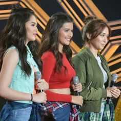 This is the lovely Janella Salvador, the lovely Liza Soberano, and the pretty Kathryn Bernardo smiling for the camera during theirr hosting stint on ASAP at ABS-CBN Studio 10 last February 7, 2016. Indeed, Janella, Liza, and Kathryn are another of my favourite Kapamilyas, and they're amazing Star Magic talent. #KathrynBernardo #TeenQueen #JanellaSalvador #LizaSoberano #AteHopie #ASAP #ASAPBigReunion