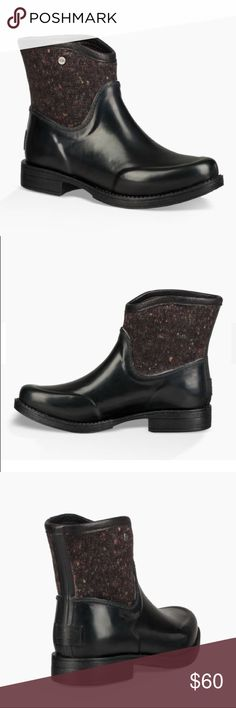 """NEW UGG PAXTON TEXTILE Waterproof Model: 1018348 Drizzle or downpour, this boot is ready. The waterproof silhouette features a contrast shaft for a little extra style. Textile and rubber EVA insole UGGpure™ wool insole lining Rubber outsole 5.75"""" shaft height UGG Shoes Winter & Rain Boots"""