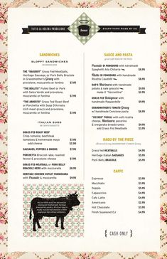 Sauce menu (by Meter Industries) Restaurant Identity, Restaurant Menu Design, Lettering Design, Branding Design, Stationery Design, Sauce Menu, Vintage Tea Rooms, Food Menu Design, Menu Book