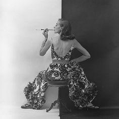 Capucine photographed by Milton Greene, 1964