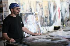 Rone at his #Collingwood studio in #Melbourne. (Photo: Sam Bolitho/ABC) http://ab.co/14LXpjG