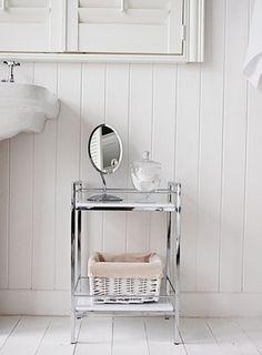 Bathroom Cabinet Storage White 4 drawer freestanding bathroom