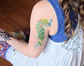 Large temporary tattoo octopus temporary tattoo mermaid hipster