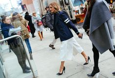 Street Style: New York Fashion Week Fall 2015 – Vogue Olivia Palermo in Tibi and Dior Couture shoes #NYFW