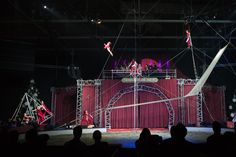 Trapeze act at Kerstcircus Ahoy in Ahoy Rotterdam