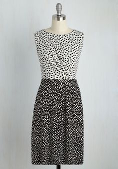 Oh Savvy Day! Dress. After spotting you in this black and white towfer, we know why youre all smiles! #black #modcloth