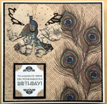 Made from the vogue collection Craftwork Cards, Cardmaking, Moose Art, Projects To Try, Paper Crafts, Peacocks, Card Ideas, Crafting, Vogue