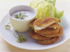 Rezept: Kohlrabi mit Parmesan-Panade und Kräuterjoghurt