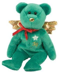 TY Beanie Baby - GIFT the Bear (Green Version) (Hallmark Gold Crown  Exclusive 0c4cd8546cff