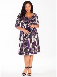 A quintessential piece for every woman's closet. Dress the Alex Dress in Violet Shadow up in heels and jewels or dress it down with wedges and jean jacket. This piece is truly a must-have for the quality, cut, and versatility alone.