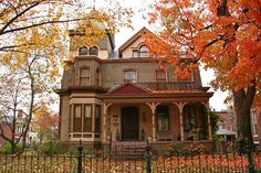 Victorian Home, Evansville, Indiana photo via lena, many gorgeous Victorian homes in downtown Evansville! Future House, My House, Autumn Aesthetic, Second Empire, Victorian Architecture, Victorian Homes, Victorian Farmhouse, Modern Victorian, Victorian Porch