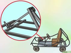How to Create a Go Kart with a Lawnmower Engine. Though go-karts traditionally use horizontal mount engines, with a little modification, you can install a vertical shaft lawnmower engine to be the driving force behind your homemade racing. Karting, Drift Trike Wheels, Kids Go Cart, Go Kart Designs, Go Kart Kits, Go Kart Frame, Go Kart Racing, Auto Racing, Go Kart Buggy
