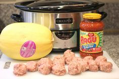 Repeat Crafter Me: Crock Pot Spaghetti Squash and Meatballs