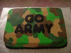 Camo Cake - BC Icing, MMF Letters