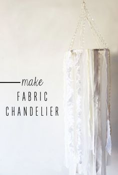 A Diy Fabric Chandelier Made To Almost Literally Raise The Roof Raising Chandeliers And Fabrics