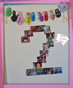 penso+invento+creo: Festa di Compleanno per bambini: Barbapapà ghirlanda e inviti fai da te