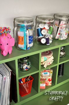 sewing desk craft room organization.