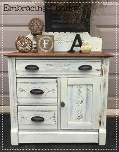 LINEN WASHSTAND MAKEOVER | Miss Mustard Seeds Milk Paint
