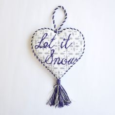 "Let It Snow Heart (18) by Kirk & Bradley Style: KB226 Size: 5"" x 5"" Mesh: 18"