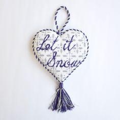 "Let It Snow Heart (18) by Kirk & Bradley Style: KB226 Size: 5"" x 5"" Mesh: 18"
