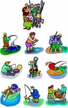 Fishing family commercial embroidery machine designs