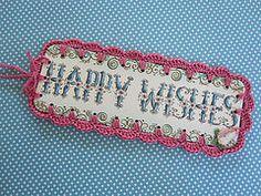Vintage Crochet Bookmark (Reyney) Tags: decorations art thread illustration vintage book mod recycled mark border crochet retro yarn ornament gift frame bookmarks hanging greetings applique embroidered bookmark amerian hallmark keepsake upcycled