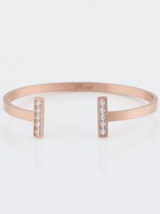 Skyline Bangle - Rose Gold Stainless personalized jewelry jBloom gifts for her Christmas birthday
