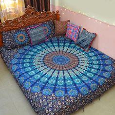 Bohemian Mandala Duvet Cover bedsheet Cotton printed floral Reversible Double in Home, Furniture & DIY, Bedding, Bed Linens & Sets | eBay
