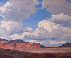 De Ru's Gallery - Edgar Payne-Desert Sky