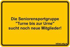"""Die Seniorensportgruppe """"Turne bis zur Urne"""" sucht noch neue Mitglieder!"""