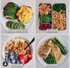 meal prep plans New Week Meal Prep inspo *Swipe for Five delicious healthy meal plan ideas! Calories per day are 2000 on average.If you require Healthy Meal Prep, Healthy Snacks, Healthy Eating, Healthy Recipes, Healthy Deserts, Healthy Diet Foods, Clean Food Recipes, Healthy Food Tumblr, Clean Eating