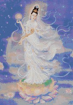 Chinese Goddess of Beauty   Quan Yin - Chinese Goddess of Mercy - 8 cross stitch kits