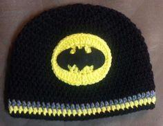 new crochet batman hat newborn to child  #Handmade