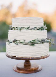Photography: Diana McGregor - www.dianamcgregor.com Cake: Ojai Valley Inn And Spa - ojairesort.com   Read More on SMP: http://www.stylemepretty.com/2015/02/12/romantic-ivory-grey-ojai-valley-inn-wedding/