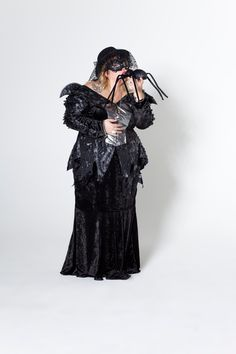 Deiters, Kostüm, Fasching, Karneval, schwarz, Spinne, Hexe, Plus Size
