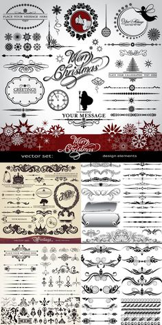 Ornate vector elements of design {free}