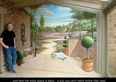 Real trompe-l'oeil murals made by Eddie VAN HOEF.
