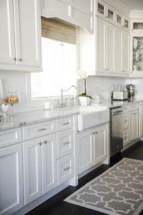 Contemporary white kitchen cabinet ideas (14)