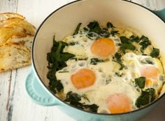 Receita Dedo de Moça: Ovos moles com espinafre