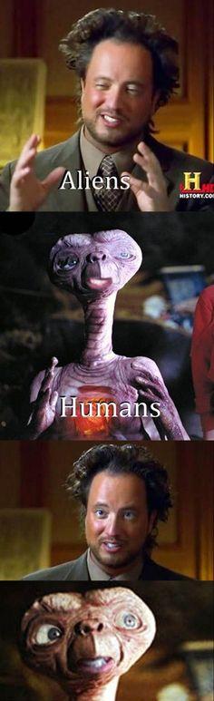 ET has more scientific credibility.