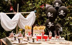 Pirate party theme   #boys theme #girls theme http://www.candystripeparty.co.uk/Pirate-party-theme