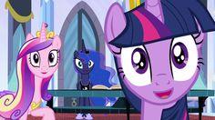 #957676 - edit, edited screencap, inverted mouth, princess cadance, princess luna, princess twilight, safe, screencap, spoiler:s04e25, spoiler:s04e26, twilight sparkle, twilight's kingdom - Derpibooru - My Little Pony: Friendship is Magic Imageboard