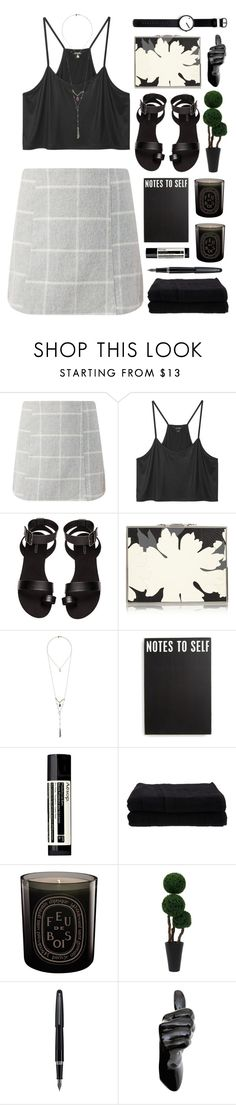 """""""RKY #78"""" by rkingy ❤ liked on Polyvore featuring Monki, H&M, Alexander McQueen, Topshop, Primitives By Kathy, Aesop, Home Source International, Diptyque, Fountain and Rosendahl"""