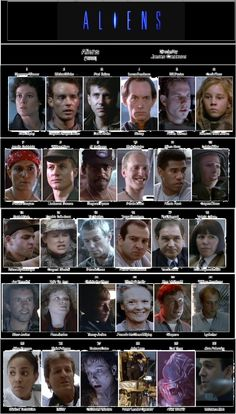 cast Aliens 1986 American science-fiction action horror film written and directed by James Cameron, produced by his then-wife Gale Anne Hurd, and starring Sigourney Weaver, Carrie Henn, Michael Biehn, Paul Reiser, Lance Henriksen, William Hope, and Bill Paxton.
