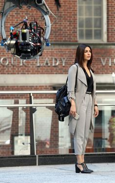 Pin for Later: Priyanka Chopra Swings Into Action on the Set of Quantico Season 2
