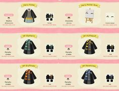 ACNH robe and face paint QR codes Animal Crossing Funny, Animal Crossing Guide, Animal Crossing Villagers, Animal Crossing Qr Codes Clothes, Harry Potter Scar, Harry Potter Robes, Harry Potter Outfits, Kleidung Design, Ac New Leaf