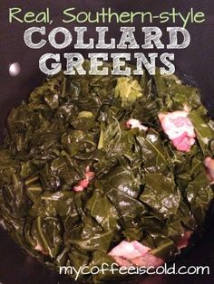 Real, southern-style collard greens (the right way!). If you don't like collards, it's because you haven't had good ones! Seasoned Collard Greens Recipe, Canned Greens Recipe, Collard Greens Bacon, Cooking Collard Greens, Best Collard Greens Recipe, Crockpot Collard Greens, How To Cook Collards, How To Cook Greens, Southern Style Collard Greens