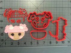 Lalaloopsy  Blossom Flowerpot Cookie Cutter Kit by JBCookieCutters, $5.50